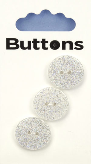 Buttons ROUND GLITTER BUTTONS – 290 – WHITE