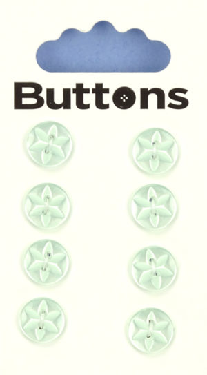 Buttons ROUND STAR BUTTONS – 417 – GREEN