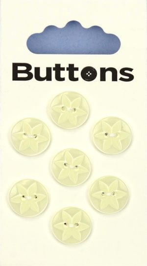 Buttons ROUND STAR BUTTONS – 558 – YELLOW