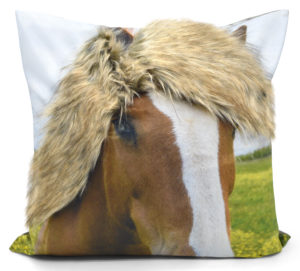 Cushion Covers 3D FUR HORSE CUSHION COVER