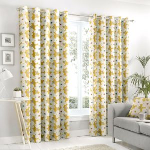 Curtains AURA OCHRE RING TOP CURTAINS