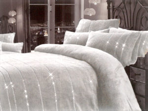 Bedding JEM SILVER TEDDY QUILT COVER