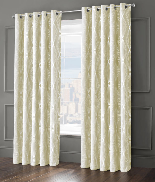 Curtains ONYX RING TOP CURTAINS CREAM