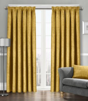 Curtains WESTWOOD DIMOUT OCHRE THERMAL CURTAINS