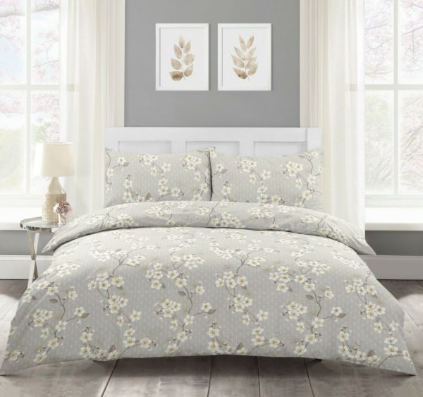Bedding CHERRY BLOSSOM NATURAL QUILT COVER SET