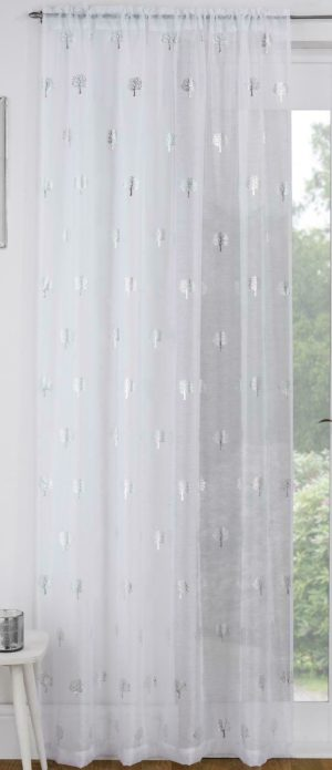 Curtains BIRCH WHITE VOILE