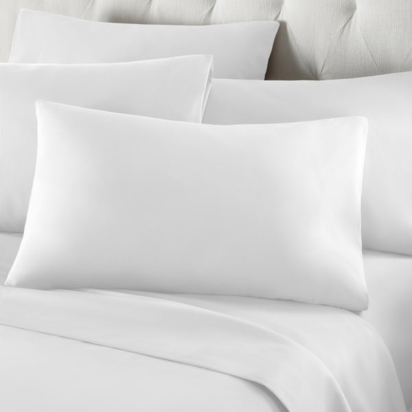 Bedding PERCALE WHITE HOUSEWIFE PILLOWCASE 2PC