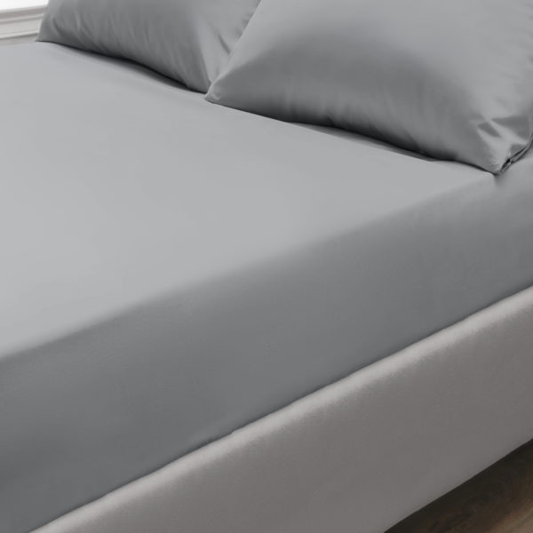 Bedding PERCALE GREY FITTED SHEET