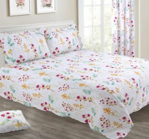 Bedding MEADOW FLORAL BEDSPREAD SET