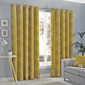 Curtains DELTA OCHRE RING TOP CURTAINS