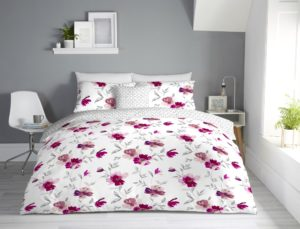 Bedding CELESTINE REVERSIBLE QUILT COVER SET BLUSH