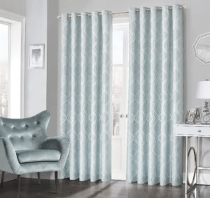 Curtains CLARISSA RING TOP CURTAINS DUCK EGG