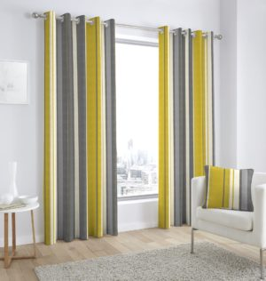 Curtains WHITWORTH RING TOP CURTAINS OCHRE