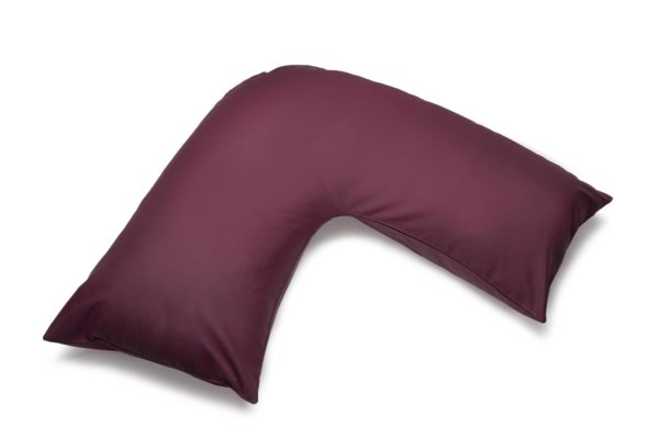 Bedding ORTHOPAEDIC 'V' PILLOWCASE AUBERGINE