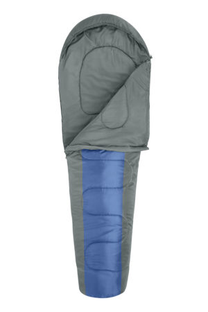 Household MUMMY SLEEPING BAG BLUE/CHARCOAL