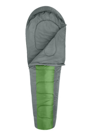 Household MUMMY SLEEPING BAG GREEN/CHARCOAL