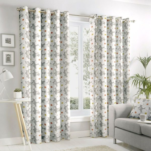 Curtains AURA RING TOP CURTAINS GREY