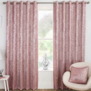 HALO BLACKOUT THERMAL RING TOP CURTAINS PINK