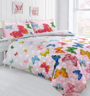 Summer Bedding BUTTERFLY FLUTTER QUILT COVER SET