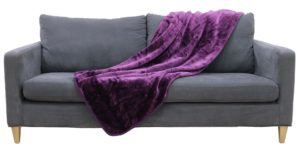 Household MINK THROW AUBERGINE