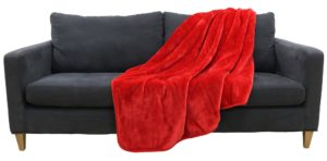 Household MINK THROW RED