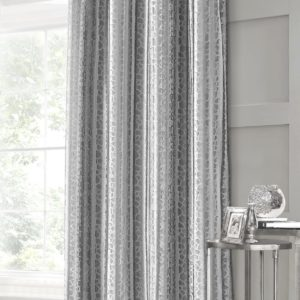 VERITY CRUSHED VELVET SINGLE PANEL SILVER