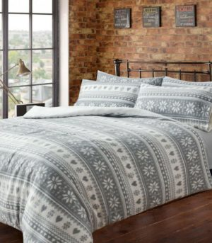 Bedding OSLO TEDDY FLEECE QUILT COVER SET