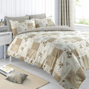 Summer Bedding MAYA REVERSIBLE QUILT COVER SET NATURAL