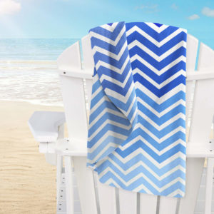 Beach MF Chevron Blue 150
