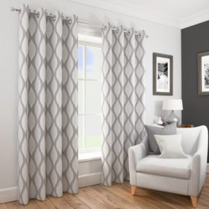 DECO RING TOP CURTAINS SILVER