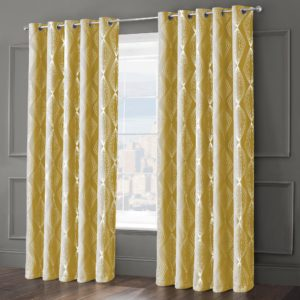 ONYX RING TOP CURTAINS OCHRE