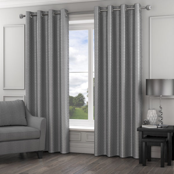 MADISON RING TOP CURTAINS SILVER