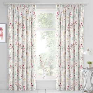 MEADOW FLORAL PENCIL PLEAT CURTAINS