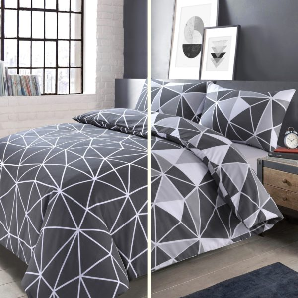 SAXTON QUILT COVERS GREY 2pk