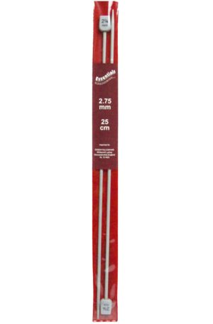 25cm ALUMINIUM KNITTING NEEDLES