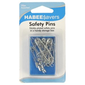 SAFETY PINS 30pk ASSORTED