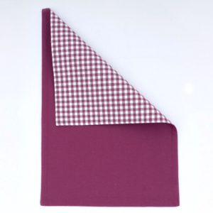 GINGHAM PLACEMAT PURPLE