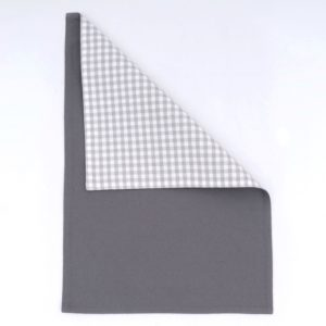 GINGHAM PLACEMAT GREY