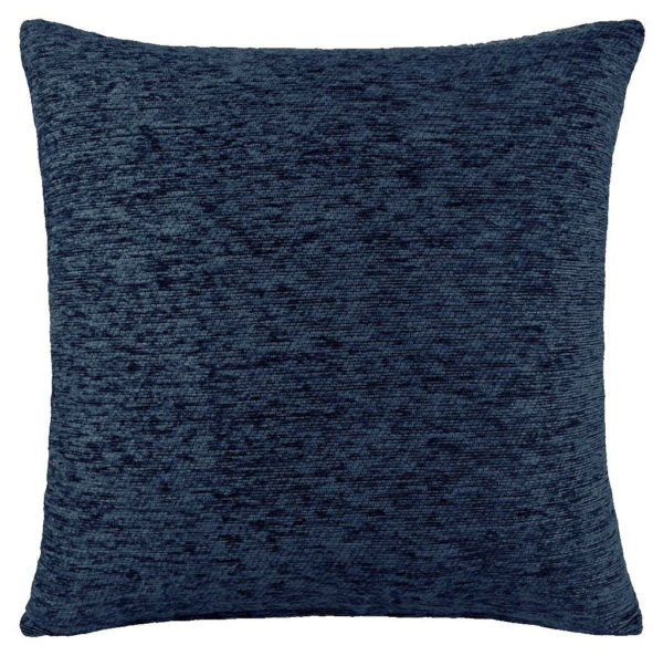 PLAIN CHENILLE CUSHION COVER NAVY