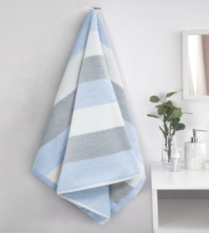 WESTON STRIPE TOWEL BLUE