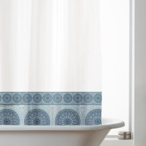 MANDALA SHOWER CURTAIN BLUE