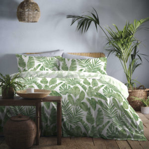 TAHITI QUILT COVER SET GREEN