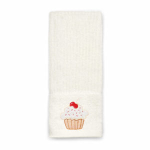 EMBROIDERED TEA TOWEL CUPCAKE