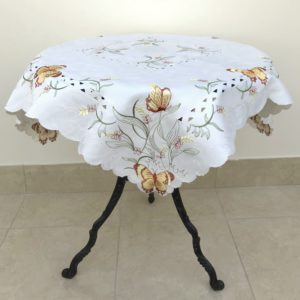 EMBROIDERY TABLECLOTH SPICE BUTTERFLY