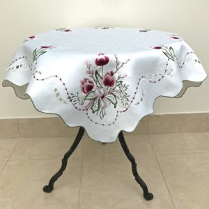 EMBROIDERY TABLECLOTH TULIP