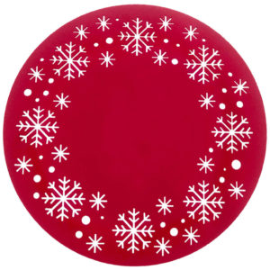 Felt Snowflake Placemat rd Red wb 150